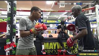 Download DEVIN HANEY goes HARD on the mitts with FLOYD MAYWEATHER SR. Video