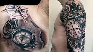 Download 50 Cool Pocket Watch and Compass Tattoos for Men 2018 & 2019 Video