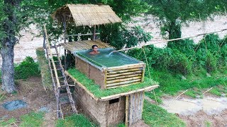 Download Building Most Beautiful Bamboo Swimming Pool On The Villa House By Ancient Skills - Full video Video