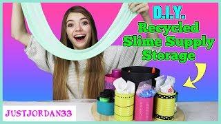 Download Easy DIY Recycled Slime Supply Storage For Slime Suite / JustJordan33 Video