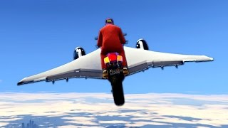 Download CRAZY BIKE FLY ACROSS MAP! (GTA 5 Funny Moments) Video