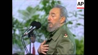 Download GNS: Fidel Castro attends birthday of ten year old Elian Gonzalez Video