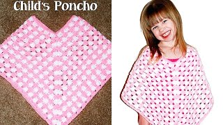 Download Crochet Child Poncho Tutorial - Crochet Jewel Video