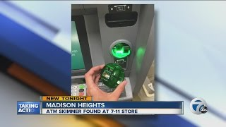 Download Skimmer found at 7/11 ATM Video