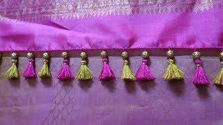 Download Single beaded simple Saree Kuchu/ how to make Saree kuchu Video