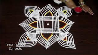 Download Margazhi kolam designs with 3 dots by easy rangoli Suneetha - Dhanurmasam muggulu Video