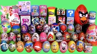 Download Giant 55 SURPRISE EGGS SURPRISE BOXES PlayDoh Frozen MLP Minecraft Cars2 Frozen Mystery Transformers Video