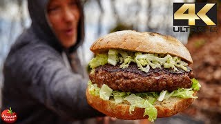 Download 5 POUND PIZZA BURGER! - UNUSUAL COOKING 4K Video