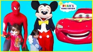 Download Every Disney Characters Ryan meet so far at Amusement Park! Video