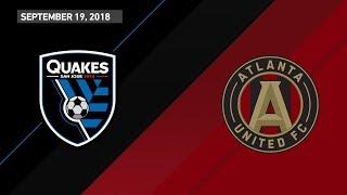 Download HIGHLIGHTS: San Jose Earthquakes vs. Atlanta United FC | September 19, 2018 Video