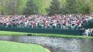 Download Vijay Singh Hole In One GOLF MASTERS Skip Water Par 3 ACE ORIGINAL SHOT Video