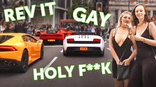 Download Reactions to a Lamborghini in London! Video