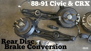 Download How to Convert Drum to Rear Disc Brakes - 88-91 Honda Civic CRX Video