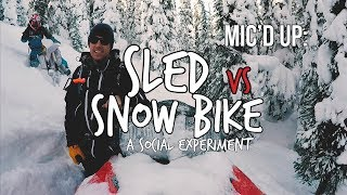 Download Sled vs Snow Bike Experiment | Mic'd Up Ride Video
