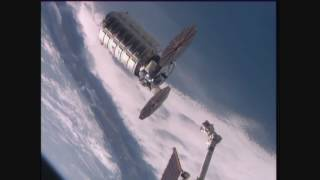 Download U.S. Commercial Cargo Ship Departs the Space Station Headed for a Destructive Reentry Video