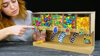 Download Smart Girl Shows How to Build Candy Dispenser Video