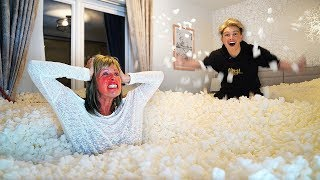 Download I Filled Mom's Room with 1,000,000 Packing Peanuts... *Gone Too Far* Video
