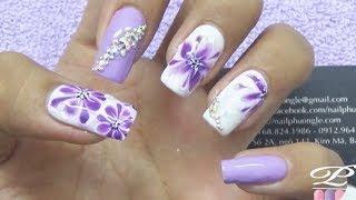 Download Vẽ trang trí móng tay đẹp, kỹ thuật vẽ loang trên móng bằng gel vẽ, cách vẽ gel loang nail Video