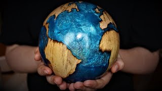 Download Woodturning - The Blue Planet - Log to Globe Video