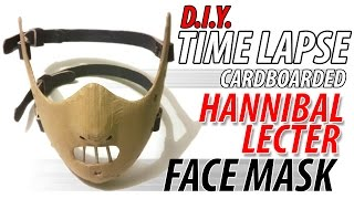 Download DIY Hannibal Lecter Cardboard Face Mask ″GREAT″ Full Time lapse Video