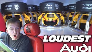 Download LOUDEST AUDI Subwoofer Sound System w/ Vibe Audio BASS Subwoofers & Custom Fiberglass Car Speakers Video