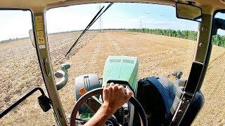 Download Cab View   John Deere 8260 R + Rabe ″Blue Bird″ 6 m   Harrowing Ground Video