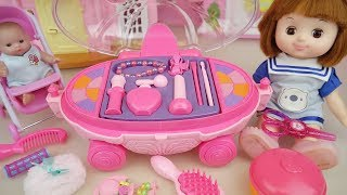 Download Baby doll Pink beauty hair car toys and baby Doli mart play Video