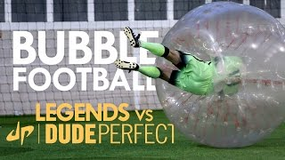 Download BUBBLE FOOTBALL | Manchester City Legends v The Dudes Video