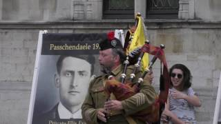 Download Flashmob Field Marshal Haig's Own Pipes & Drums - 100 Year Passchendaele @ Brugge/ Bruges Video