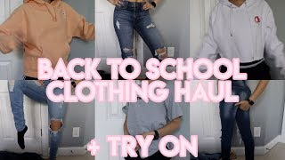 Download BACK TO SCHOOL CLOTHING + TRY ON HAUL (2018-19) Video