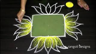 Download New year 2019 rangoli kolam designs with 5x5 straight dots - New year muggulu Video