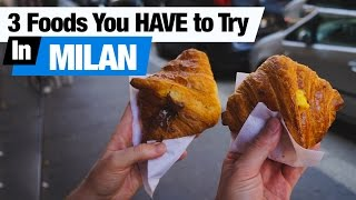 Download Italian Food - 3 Dishes To Try in Milan! (Americans Try Italian Food) Video