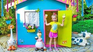 Download Детский игровой домик своими руками / Colorful playhouse for kids Video