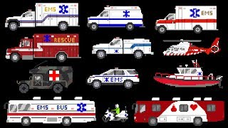 Download Medical Vehicles - Emergency Vehicles - Ambulances - The Kids' Picture Show (Fun & Educational) Video