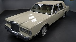 Download 1988 Lincoln Town Car Signature Stock # 837-DET Video