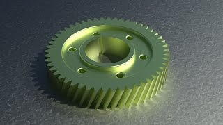 Download 2D to 3D in Autocad Mechanical Gear Video