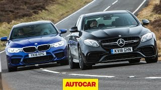 Download 2018 BMW M5 vs Mercedes-AMG E63 S | Super Saloons tested | Autocar Video