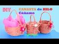 Download HAZ una CANASTA de HILO Cáñamo FÁCIL y rápido | Manualidades FÁCILES Video