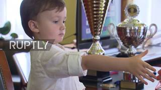 Download Check (out this) mate! 4-year old chess player takes on a grandmaster Video