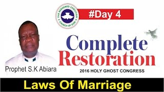 Download Prophet S.K Abiara Message @ RCCG 2016 HOLY GHOST CONGRESS #Day 4 Video
