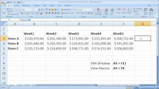 Download Excel Macro VBA Tip 17 - Find Last Row and Last Column with VBA Video