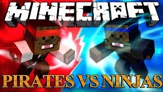 Download Minecraft Ninja Mod vs Pirate Mod - Mod Battles! #1 Video