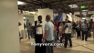Download man goes off big time on undercover officers and TSA agents at LAX Video