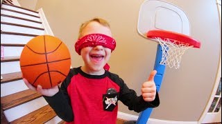 Download FATHER SON BLINDFOLDED BASKETBALL! Video