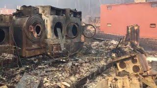 Download Fires still burn as rain falls in Gatlinburg Video
