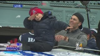 Download Patriots Super Bowl Parade: Tom Brady's Son Dabs Atop Duck Boat Video