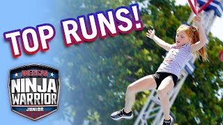 Download American Ninja Warrior Junior: Top CLOSEST Runs from Season 1 | Universal Kids Video