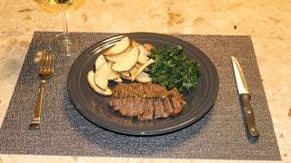 Download Blue Apron - Steaks & Green Peppercorn Sauce w/ Kale & Roasted Potato Video