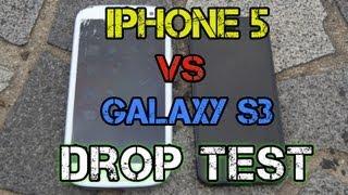 Download iPhone 5 vs Samsung Galaxy S3 Drop Test Video