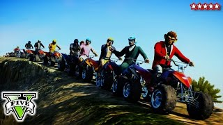 Download GTA 5 Online QUAD BIKE Stunts & Jumps | GTA 5 Epic Canyon Jump Gameplay Video